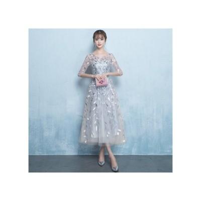 上品 ロング丈 ミディアム丈 結婚式 カラードレス 演奏会 着痩せ イブニングドレス 新品 お呼ばれ ファッション 大きいサイズ パーティー ドレス ワンピース