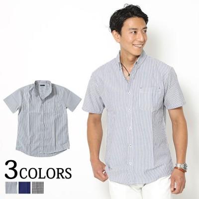 セール品 シャツ メンズ 半袖  夏 ボタンダウン 速乾機能付きボタンダウン半袖シャツ