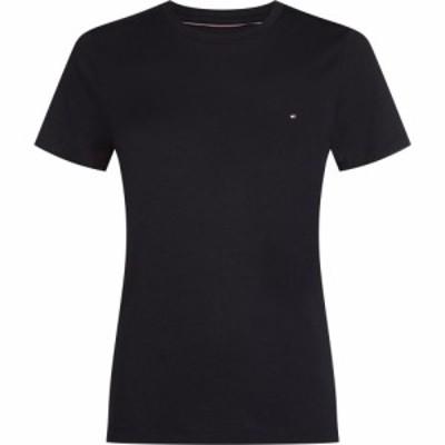 トミー ヒルフィガー Tommy Hilfiger レディース Tシャツ トップス Heritage Crew Neck T-Shirt MASTERS BLACK