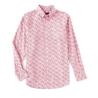 ダニエル クレミュ メンズ シャツ トップス Fan Print Slub Long-Sleeve Woven Shirt