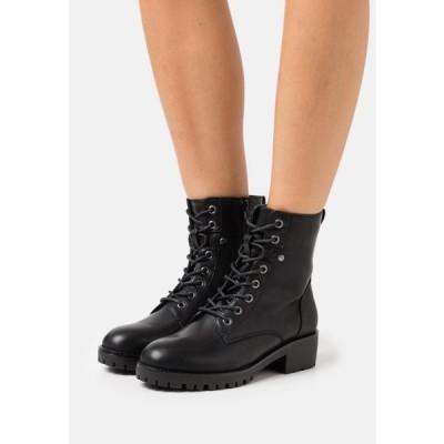 アンナフィールド レディース 靴 シューズ Lace-up ankle boots - black