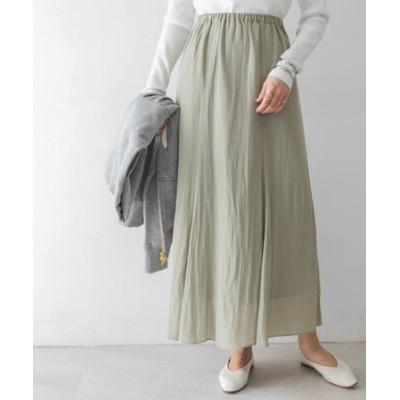 ウエストゴム裾フレアスカート
