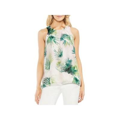 レディース 衣類 トップス Vince Camuto Womens Printed Sleeveless Blouse ブラウス&シャツ