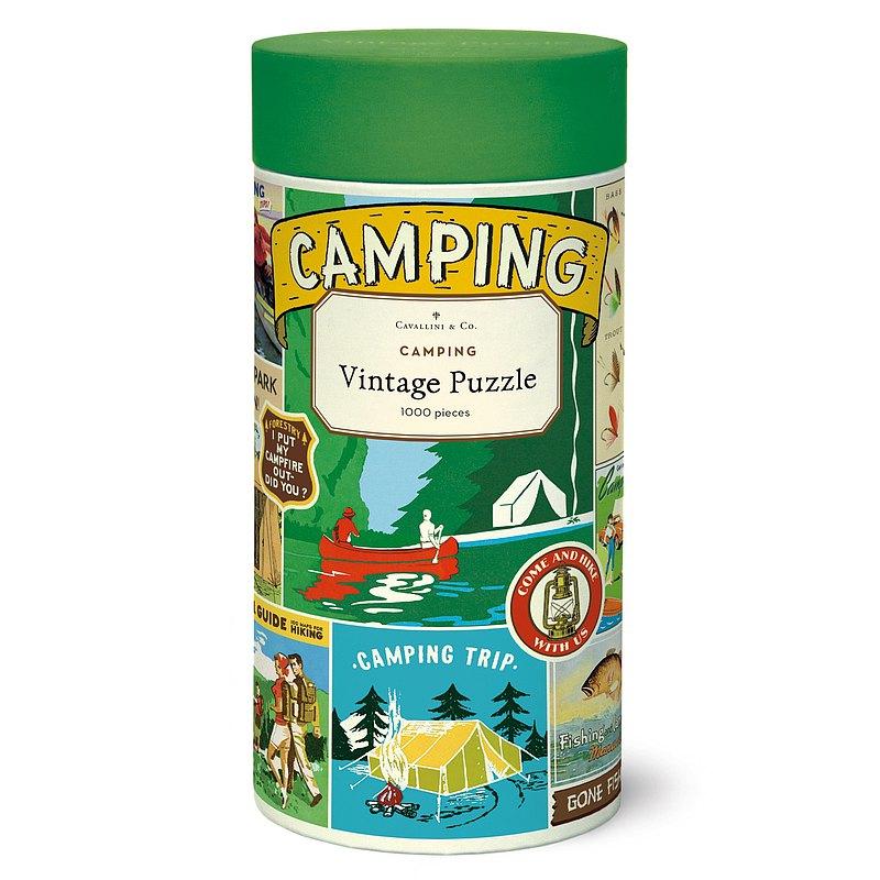 Cavallini 1000片拼圖 露營 Camping 千片拼圖