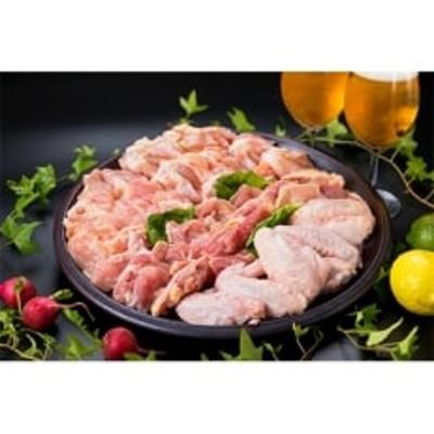 九州産華味鳥鍋もの・バーベキュー用4品盛り2.4kgセット