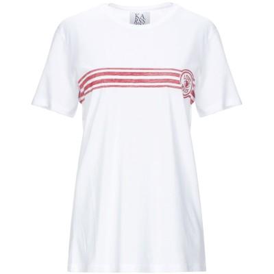 ZOE KARSSEN T シャツ ホワイト XS コットン 50% / レーヨン 50% T シャツ