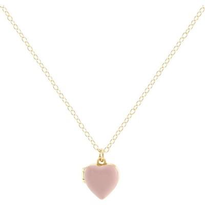 クリスネーションズ KRIS NATIONS レディース ネックレス ハート ジュエリー・アクセサリー Enamel Heart Locket Necklace 18k Gold Vermeil/Pink