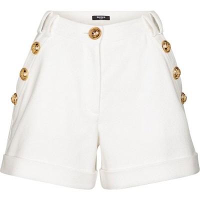 バルマン Balmain レディース ショートパンツ ボトムス・パンツ high-rise cotton shorts Blanc