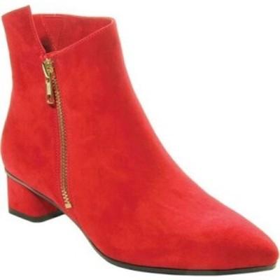 ヴァネリ VANELi レディース ブーツ ショートブーツ シューズ・靴 Liking Pointed Toe Ankle Bootie Red Suede