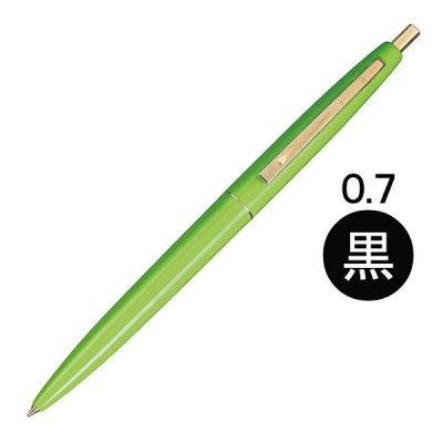 油性ボールペン クリックゴールド 0.7mm アップルグリーン軸 黄緑 CFCGAGRN07BLKJ BICジャパン