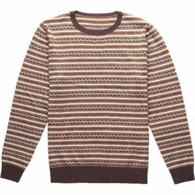 リズム Rhythm メンズ ニット・セーター トップス vintage stripe knit sweater Brown