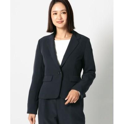 【ミューズ リファインド クローズ】 ウォッシャブルテーラードジャケット レディース ネイビー S MEW'S REFINED CLOTHES