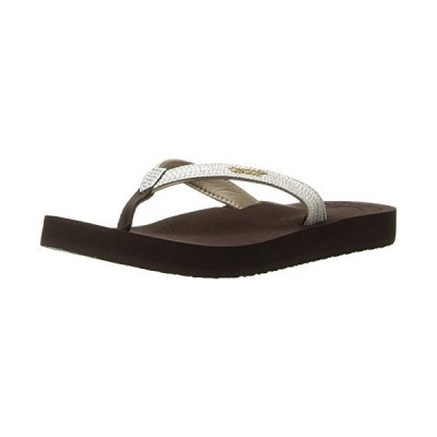 [リーフ] Women's Star Cushion Sassy Sandal  8M  Brown/White