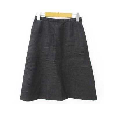 【中古】SELERY セロリー 膝丈スカート 9 グレー系 裏地 ウール 毛  レディース 【ベクトル 古着】