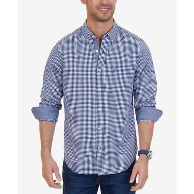 ナウティカ シャツ トップス メンズ Men's Classic-Fit Stretch Plaid Shirt Navy