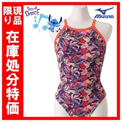 在庫処分特価 ミズノ エクサースーツ ディズニー スティッチ N2MA829264 Lサイズ レディス ミディアムカット 練習水着 競泳 ネコポス発送 代引き不可