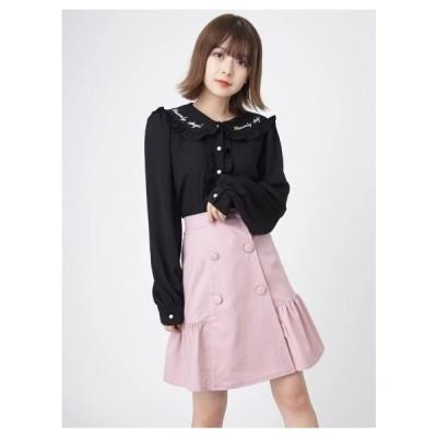 Ank Rouge(アンク ルージュ)裾切り替えスカート