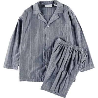 bugatti ストライプ柄 セットアップ 長袖 パジャマシャツ パジャマパンツ メンズM メンズL /eaa084907