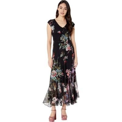 ファジー FUZZI レディース ワンピース ワンピース・ドレス Seamed Patchwork Long Dress Black