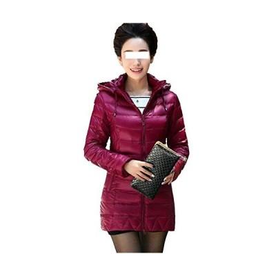 新品 Dotoo 80% White Duck Down Middle-Aged Women's Winter Long Down Jacket Light Coat Purple XXXXL