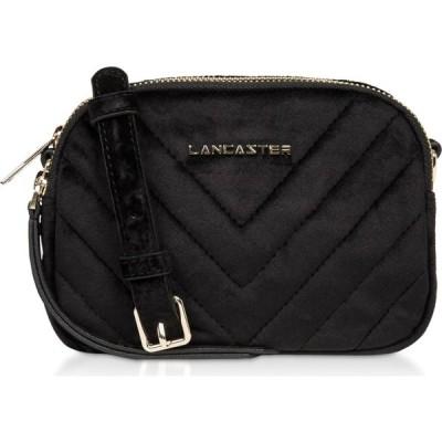 ランカスター Lancaster Paris レディース ボディバッグ・ウエストポーチ バッグ Quilted Velvet Couture Mini Camera/Belt Bag Black