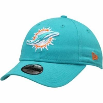 New Era ニュー エラ スポーツ用品  New Era Miami Dolphins Youth Aqua Primary Core Classic 9TWENTY Adjustable Hat