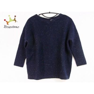 ロンハーマン Ron Herman 長袖セーター サイズS レディース 美品 - ダークネイビー×白 Vネック 新着 20200923