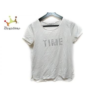 ジユウク 自由区/jiyuku 半袖Tシャツ サイズ38 M レディース 白 スパンコール     スペシャル特価 20200508