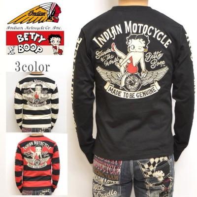 インディアンモトサイクル ベティブープ Indian Motocyacle BBI-904 天竺 長袖 Tシャツ BETTY ロンT メンズ