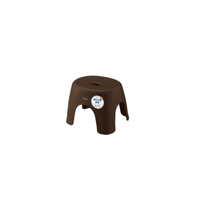 ds-2350730 バスチェア/風呂椅子 【座面高24cm ブラウン】 抗菌効果 銀イオン 脚ゴム アスベル Emeal エミール 〔バスルーム お風呂 浴室〕 (ds2350730)