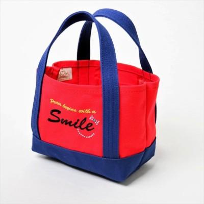 ポジティブトートバッグ 赤×紺 Sサイズ