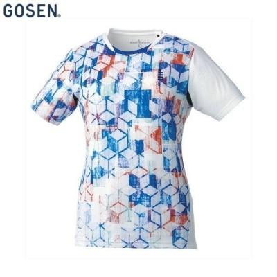 GOSEN/ゴーセン T1813 テニス バドミントン ウェア レディース ゲームシャツ/レディース ホワイト T1813
