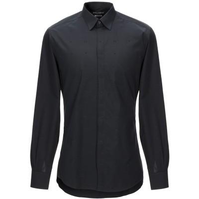 ドルチェ & ガッバーナ DOLCE & GABBANA シャツ ブラック 38 コットン 100% シャツ