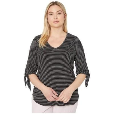 カレンケーン ユニセックス シャツ トップス Plus Size Tie-Sleeve Shirttail Tee