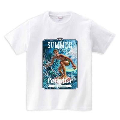 【サマーパラダイス・サーフィン】メンズ 半袖 Tシャツ