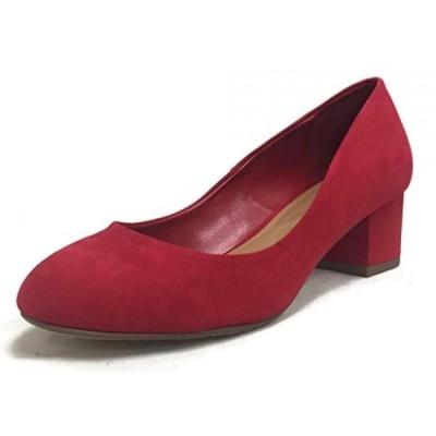 シティークラッシフィード レディース パンプス City Classified Women's Honest Round Toe Chunky Mid Heel Slip On Pump Sandal