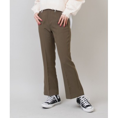 SPINNS / 美脚センタープレスカラーフレアスラックスパンツ WOMEN パンツ > スラックス