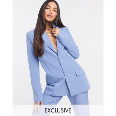 ファッションユニオン Fashion Union Tall レディース スーツ・ジャケット アウター blazer co-ord ブルー