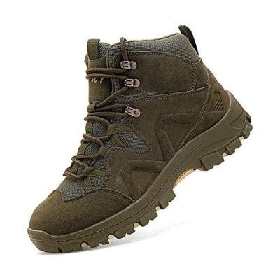 [VITIKE] 軍用靴 メンズ ライダーブーツ 登山靴 耐摩耗性 ハイカット ハイキング シューズ 4e 通気性 バイク ブーツ 厚い靴底