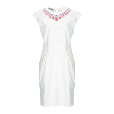 モスキーノ MOSCHINO ミニワンピース&ドレス ホワイト 42 コットン 96% / 指定外繊維 4% ミニワンピース&ドレス