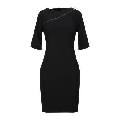 MARIELLA ROSATI ミニワンピース&ドレス ブラック 40 レーヨン 68% / ナイロン 27% / ポリウレタン 5% ミニワンピー
