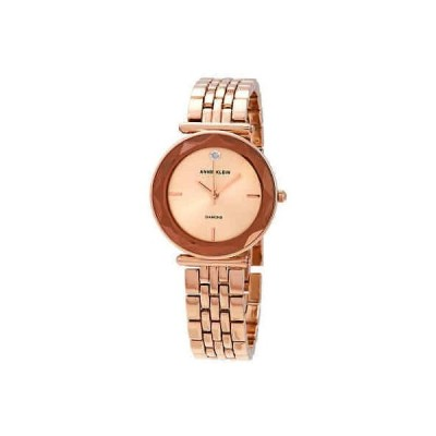 腕時計 アンクライン Anne Klein Quartz Rose Dial Rose Gold-tone Ladies Watch AK/3412RGRG