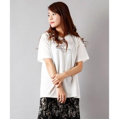tシャツ Tシャツ 【Bou Jeloud】汗染防止加工2WAYロゴTシャツ womens