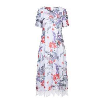 CUBIC 7分丈ワンピース・ドレス パープル XS ポリエステル 100% 7分丈ワンピース・ドレス