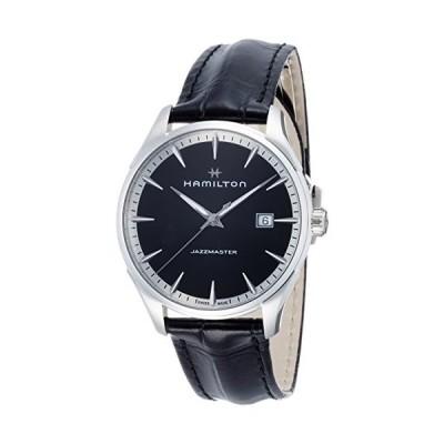 Hamilton Jazzmaster Black Dial Men's Leather Watch H32451731 並行輸入品