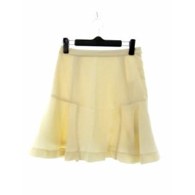 【中古】未使用品 インデックス INDEX スカート フレア ミニ 無地 S 白 ホワイト /YT レディース