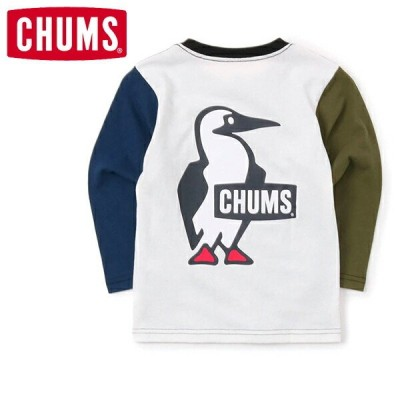 チャムス キッズブービーロゴロングスリーブTシャツ(キッズ/ロングTシャツ) カラー:Crazy CHUMS CH21-1208-C004