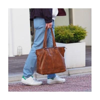 Bonjour Sagan / 【グッシオ ウォーモ】PUレザー 2WAYシンプルトートバッグ 【通勤通学】 MEN バッグ > トートバッグ