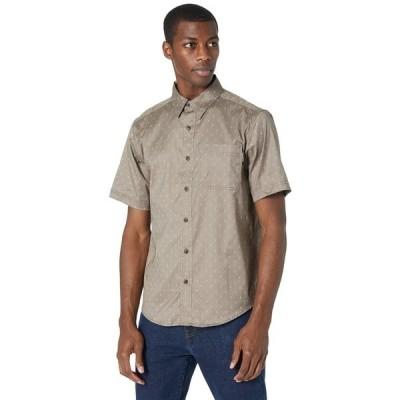 ティンバーランド シャツ トップス メンズ Amesbury Short Sleeve Work Shirt Walnut/Arrow Print
