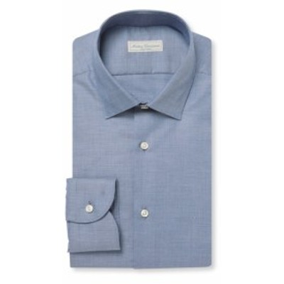 アンティカキャメリア Men Clothing Modern Spread Cotton Dress Shirt